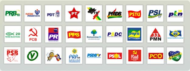 Resultado de imagem para partidos politicos